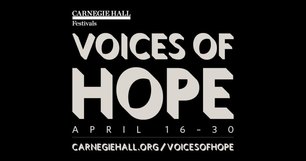 This image has an empty alt attribute; its file name is Carnegie-Hall-Voices-of-Hope-logo-1024x539.jpeg